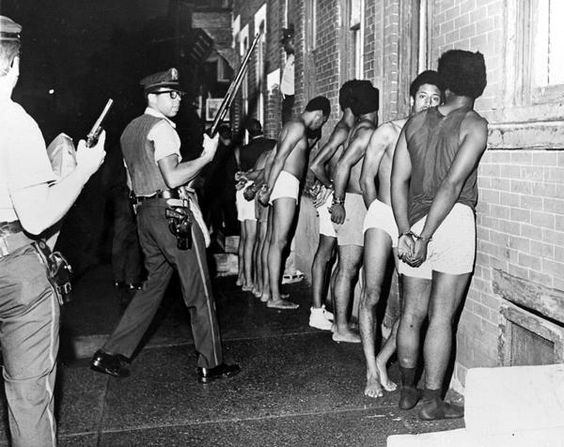 Black Panthers arrested in Philadelphia. Credit: explorepahistory.com on Pinterest