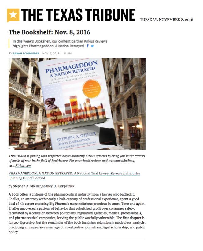 Sheller,book,review,kirkus,texas tribune