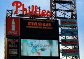 Steve name on Phillies field display with CS Lewis quote-1 copy